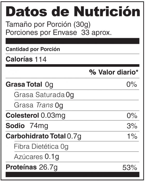 Nutrition Label BW Span